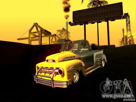 Ford Pick Up Custom 1951 LowRider für GTA San Andreas Rückansicht