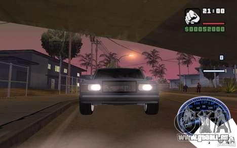 VAZ 2107 léger Tuning pour GTA San Andreas sur la vue arrière gauche