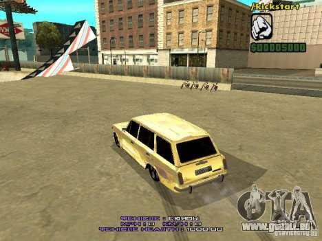 VAZ 2102 or pour GTA San Andreas vue de droite