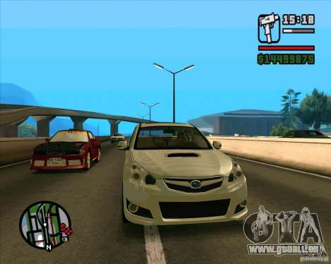 Subaru Legacy 2010 v.2 pour GTA San Andreas laissé vue
