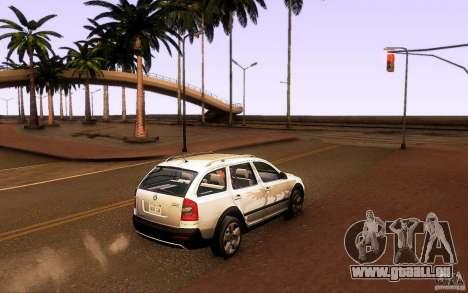 Skoda Octavia Scout pour GTA San Andreas laissé vue