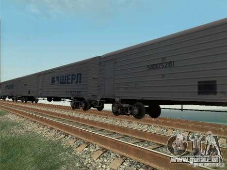 Wagons de marchandises pour GTA San Andreas laissé vue