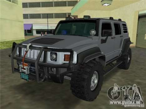 Hummer H3 SUV FBI für GTA Vice City