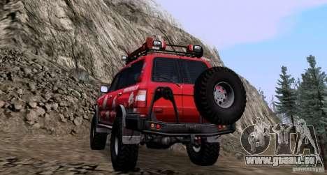 Toyota Land Cruiser 100 Off-Road pour GTA San Andreas sur la vue arrière gauche