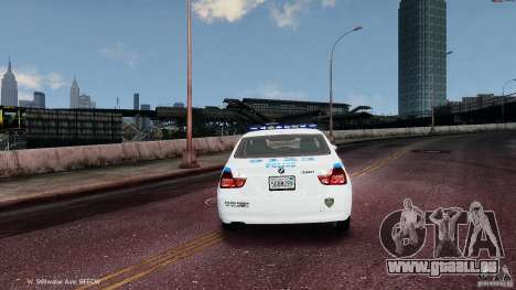 NYPD BMW 350i pour GTA 4 est un droit