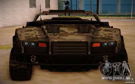SOC-T from BO2 pour GTA San Andreas sur la vue arrière gauche