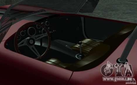Shelby Cobra 427 pour GTA San Andreas vue de dessus