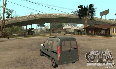 Renault Kangoo 2005 pour GTA San Andreas sur la vue arrière gauche