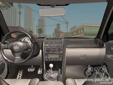 Lexus IS300 HellaFlush pour GTA San Andreas vue de dessous