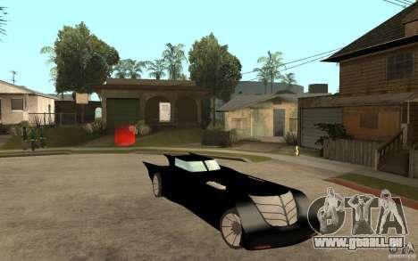 Batmobile Tas v 1.5 für GTA San Andreas Rückansicht