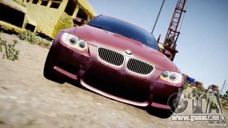 BMW M3 E92 pour GTA 4 Vue arrière