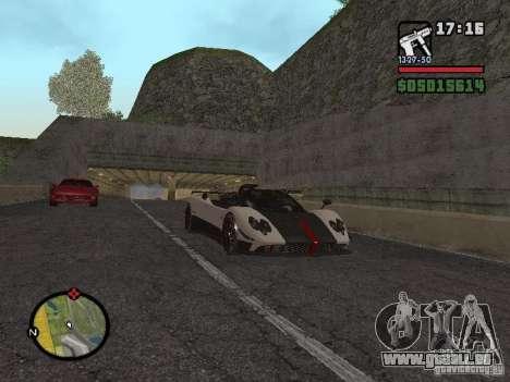 Pagani Zonda Cinque Roadster V2 für GTA San Andreas rechten Ansicht