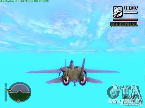 F 14 A TOMCAT für GTA San Andreas zurück linke Ansicht