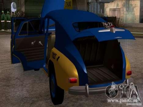 GAZ M20 Pobeda Taxi pour GTA San Andreas vue intérieure