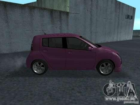 Toyota WiLL Cypha pour GTA San Andreas sur la vue arrière gauche