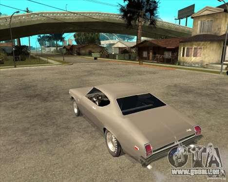 1969 Chevrolet Chevelle pour GTA San Andreas laissé vue