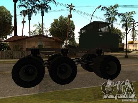 GAZ 66 Saiga pour GTA San Andreas sur la vue arrière gauche