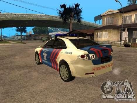 Mazda 6 Police Indonesia für GTA San Andreas linke Ansicht