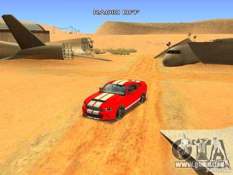 Ford Shelby GT500 für GTA San Andreas Unteransicht