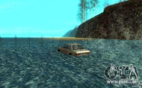 Admiral Boat pour GTA San Andreas sur la vue arrière gauche
