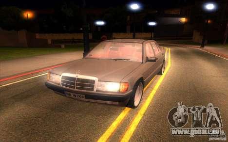 Mercedes-Benz 190E W201 pour GTA San Andreas vue arrière