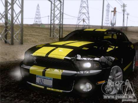 Ford Shelby Mustang GT500 2010 für GTA San Andreas Seitenansicht
