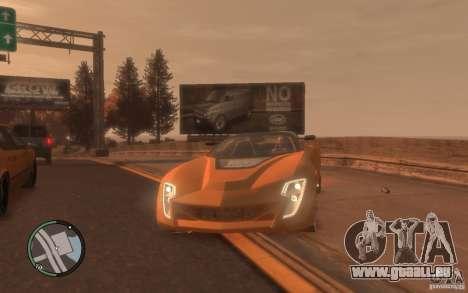 Bertone Mantide pour GTA 4 Vue arrière de la gauche