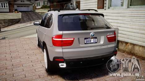 BMW X5 xDrive 4.8i 2009 v1.1 pour GTA 4 Vue arrière de la gauche