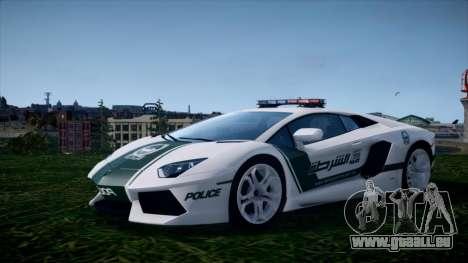 Lamborghini Aventador LP700-4 Dubai Police v1.0 pour GTA 4