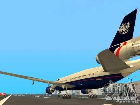 McDonell Douglas DC10 British Airways pour GTA San Andreas sur la vue arrière gauche