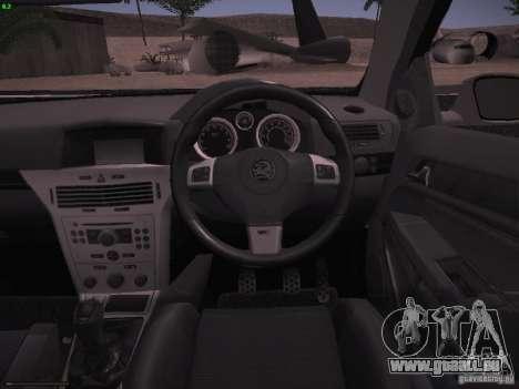 Vauxhall Astra VXR Tuned pour GTA San Andreas vue de côté
