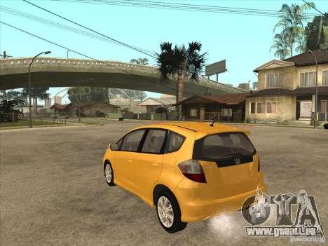 Honda Jazz (Fit) pour GTA San Andreas sur la vue arrière gauche