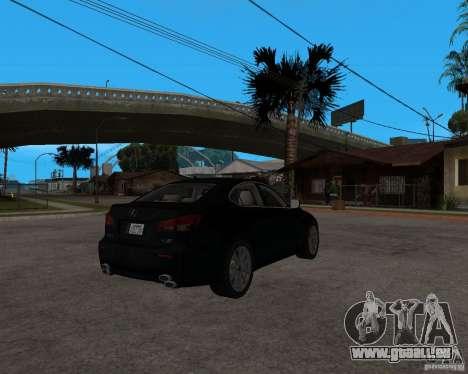 Lexus IS-F v2.0 pour GTA San Andreas vue de droite