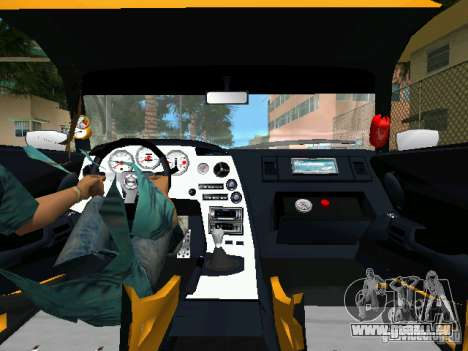 Toyota Supra pour une vue GTA Vice City de la droite