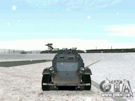 Transportpanzer des Spiels hinter den feindliche für GTA San Andreas Innenansicht