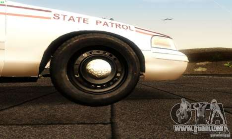 Ford Crown Victoria North Dakota Police pour GTA San Andreas vue de droite