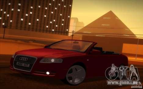 Audi A4 Cabrio pour GTA San Andreas vue arrière