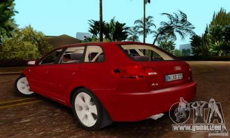 Audi A3 Sportback 3.2 Quattro pour GTA San Andreas laissé vue
