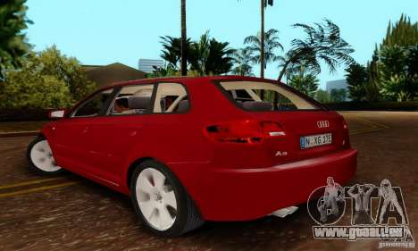 Audi A3 Sportback 3.2 Quattro für GTA San Andreas linke Ansicht