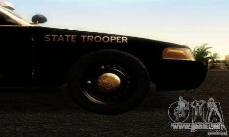 Ford Crown Victoria Texas Police für GTA San Andreas rechten Ansicht