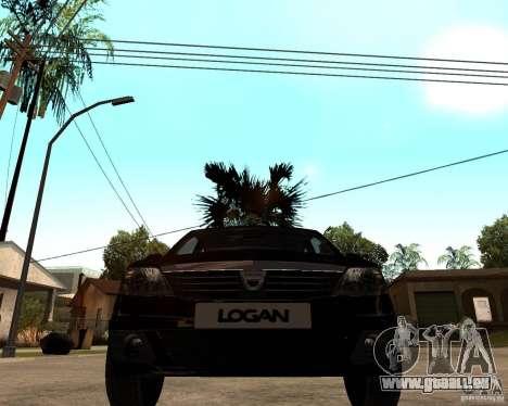 Dacia Logan 2008 für GTA San Andreas Rückansicht