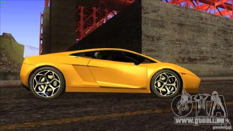 Lamborghini Gallardo SE für GTA San Andreas Innen