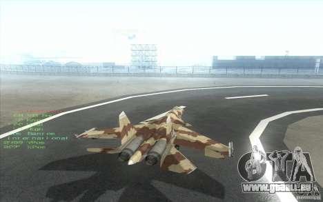 Le Su-37 Terminator pour GTA San Andreas vue de droite