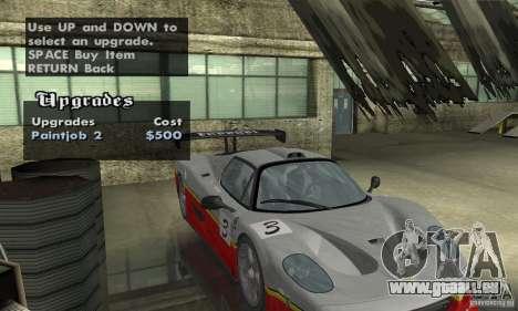 Ferrari F50 GT (v1.0.0) pour GTA San Andreas vue intérieure