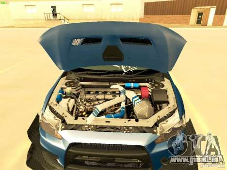 Mitsubishi Lancer Evolution X Time Attack pour GTA San Andreas vue de côté