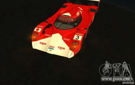 Toyota GT-One TS020 für GTA San Andreas Rückansicht