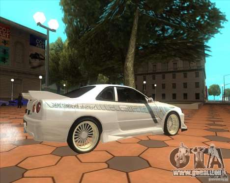 Nissan Skyline R34 Veilside street drag für GTA San Andreas