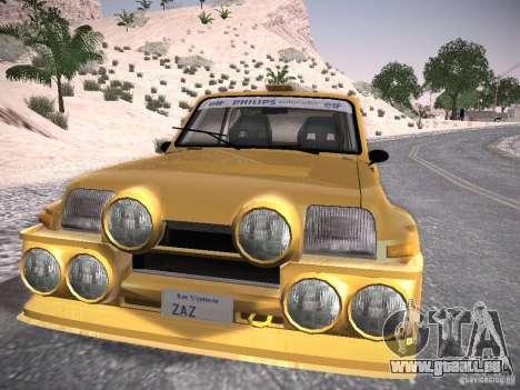 Renault 5 Turbo pour GTA San Andreas sur la vue arrière gauche