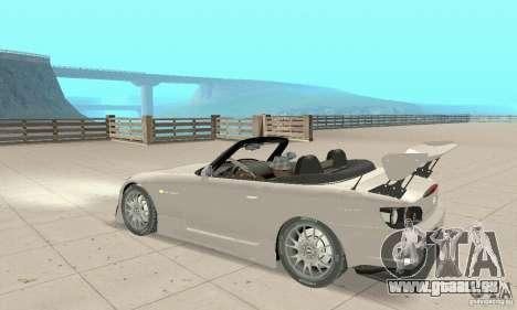 Honda S2000 Cabrio West Tuning pour GTA San Andreas vue arrière