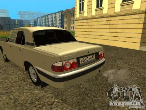 GAZ Wolga 31105 Neugestaltung für GTA San Andreas rechten Ansicht